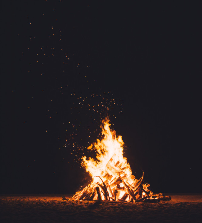 Big bonfire.